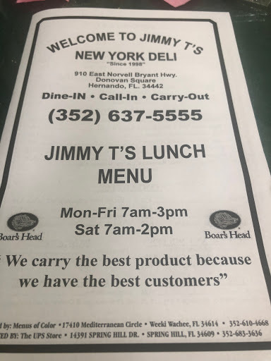 Jimmy T`s New York Deli
